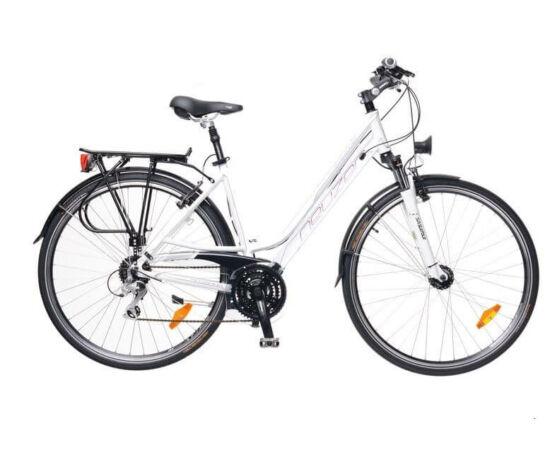 Neuzer Ravenna Alivio női 28-as  trekking kerékpár, 24s, alumínium,agydinamós, 17-es, világoskék-fehér-krém