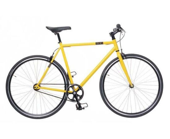 Neuzer Skid férfi 700c fixi-single speed kerékpár, acél, 54  cm, sárga-fekete