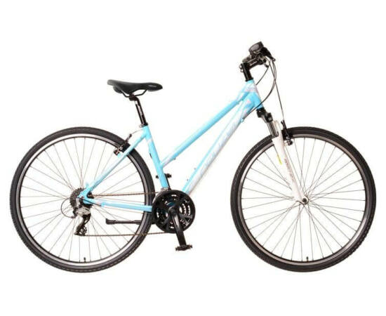 Neuzer X2 női 28-as cross kerékpár, 24s, alumínium, 19-es, világoskék-fehér-rózsaszín