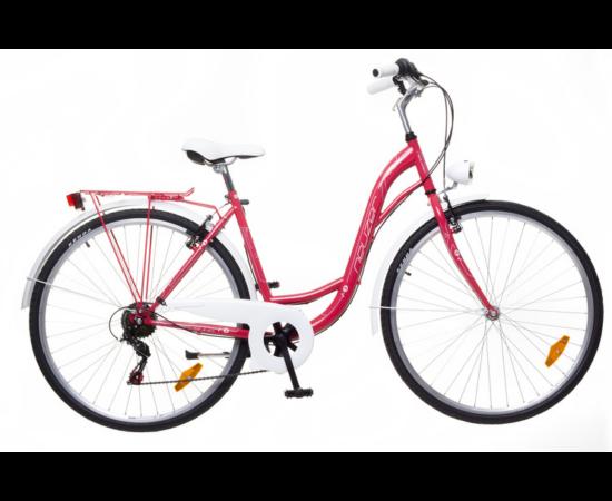 Neuzer Ravenna 6 Plus női városi kerékpár, piros