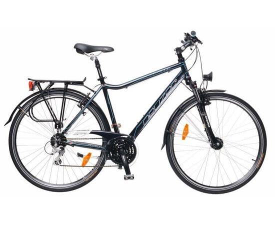 Neuzer Ravenna férfi agydinamós trekking kerékpár 17-es fekete-cián