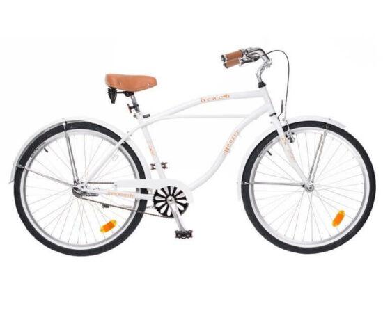 Neuzer Beach 26-os férfi cruiser kerékpár, fehér