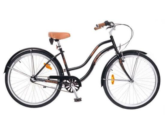 Neuzer California 26-os női cruiser kerékpár, agyváltós (3s), fekete