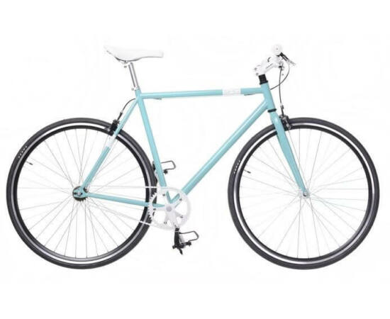 Neuzer Skid férfi 700c fixi-single speed kerékpár, acél, 54 cm, celeste-fehér