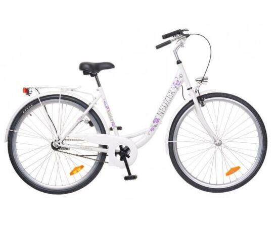 Neuzer Balaton 26-os női városi kerékpár fehér, virágmintás