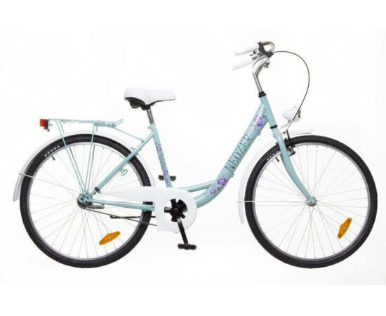 Neuzer Balaton Plus 26-os női városi kerékpár celeste, virágmintás
