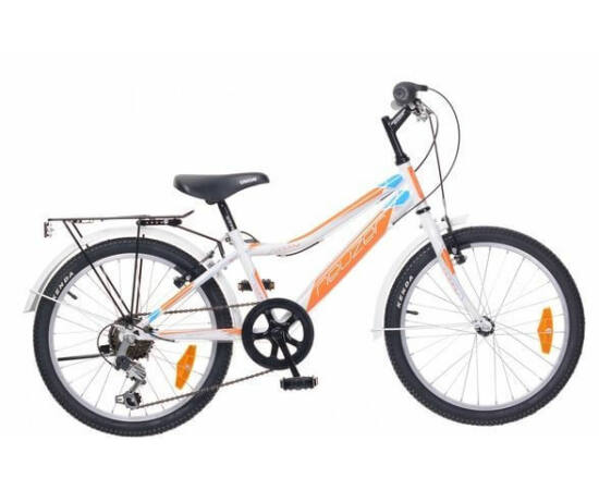 Neuzer Bobby City 20-as, 6 sebességes fiú kerékpár, fehér-narancs