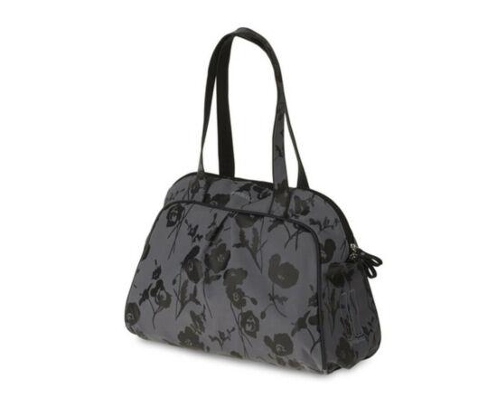 Basil Elegance Carry All táska csomagtartóra, virágos, sötétszürke