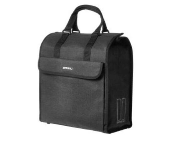 Basil Mira Shopper egy részes táska csomagtartóra, 17L, fekete