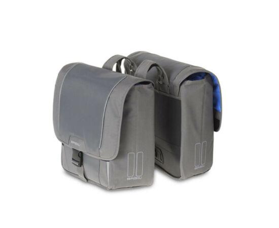 Basil Sport Design kétrészes  táska csomagtartóra, szürke