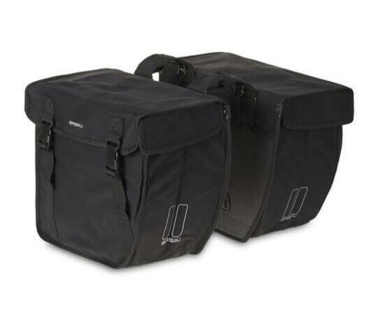 Basil Kavan két részes táska csomagtartóra, 40L, fekete