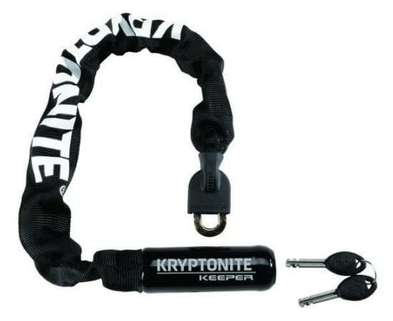 Kryptonite Keeper Mini 755 integrált láncos lakat, 7 mm x 55 cm