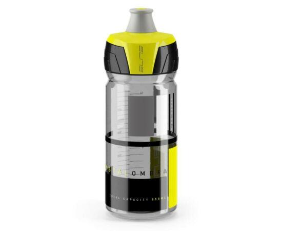 Elite Crytal Ombra kulacs 550 ml, csavaros, átlátszó, sárga