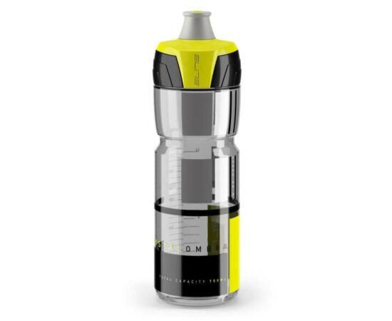 Elite Crytal Ombra kulacs 750 ml, csavaros, füst színű, sárga