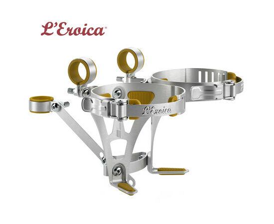 Elite L'Eroica kormányra szerelhető retró hatású alumínium kulacstartó, két kulacshoz