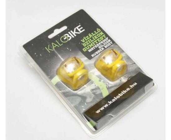 Kalobike 2 LED-es első + hátsó villogó szett, sárga
