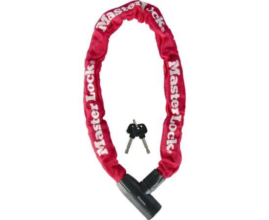 Master Lock 8391 integrált láncos lakat, 90cm x 8mm, piros