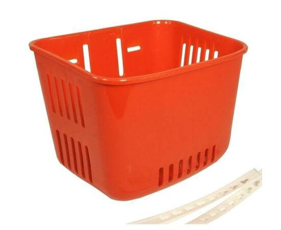 Neuzer műanyag első kosár gyerek kerékpárra, piros