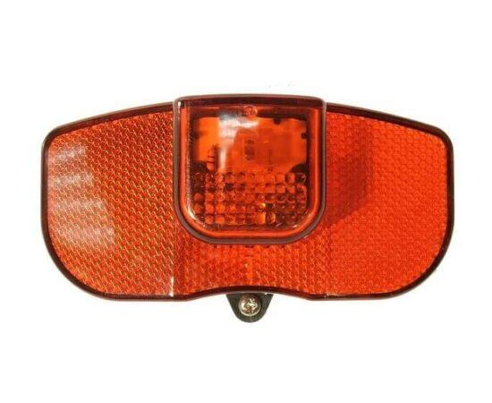 Dinamós LED hátsó lámpa csomagtartóra, piros