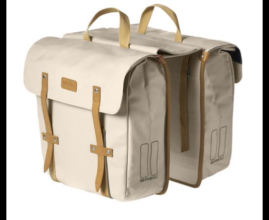 Basil Portland két részes táska csomagtartóra, 2x15L, krém