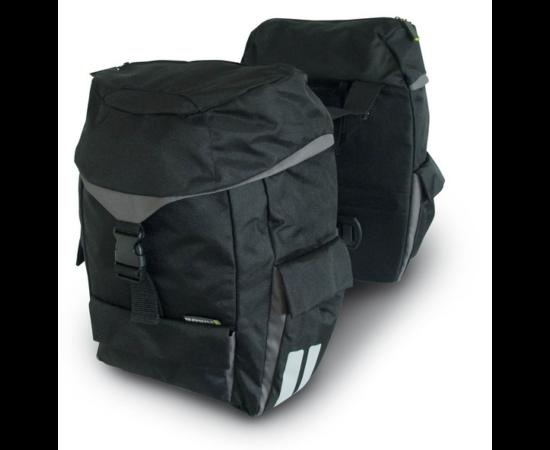 Basil Sports két részes táska csomagtartóra, 2x19L, fekete