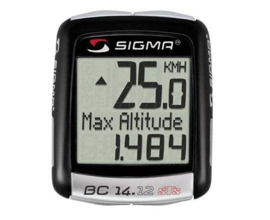 Sigma 14.12 vezeték nélküli kerékpár komputer, magasságmérős, fekete