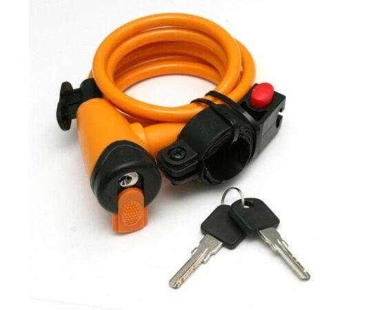 Spyral City kulcsos sodronyzár, 8 mm x 150 cm, narancs