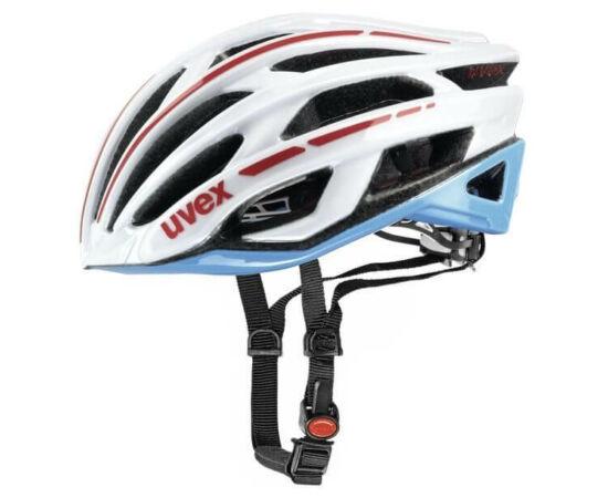 Uvex Race 5 országúti bukósisak, 58-61 cm, fehér-kék