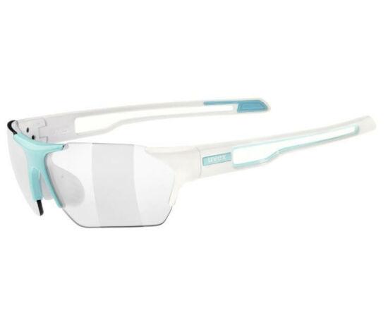 Uvex Sportstyle 202V Small sportszemüveg, fehér-kék, Variomatic fényre sötétedő lencsével