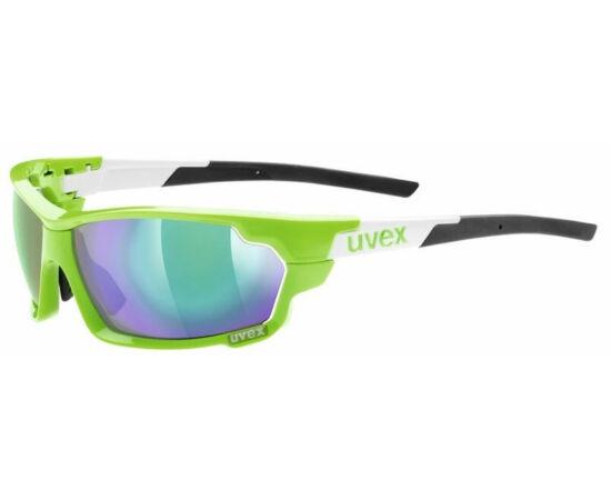 Uvex Sportstyle 702 cserélhető lencsés sportszemüveg, zöld-fehér, 3 lencsével (S3-S1-S0)