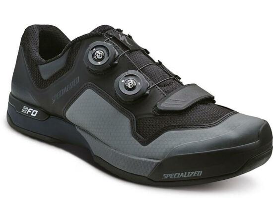 Specialized 2FO Cliplite SPD MTB kerékpáros cipő, fekete-szürke, 45-ös