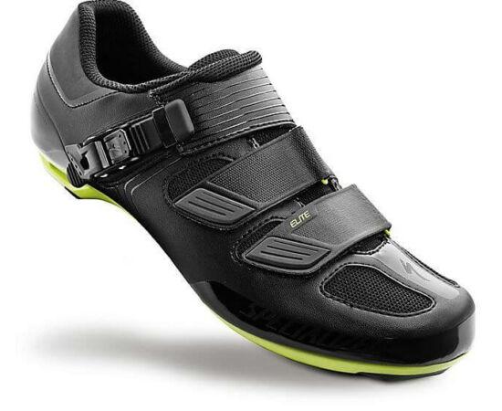 Specialized Elite Road országúti kerékpáros cipő, fekete-zöld, 43-as